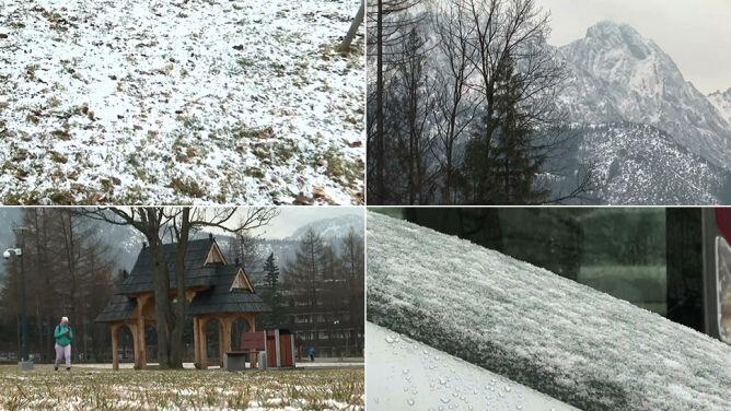 A w Zakopanem pada śnieg